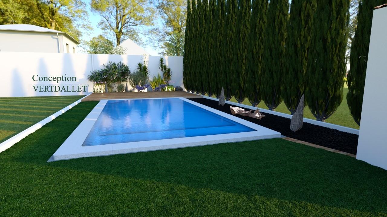 Création d'une plage de piscine à Nimes